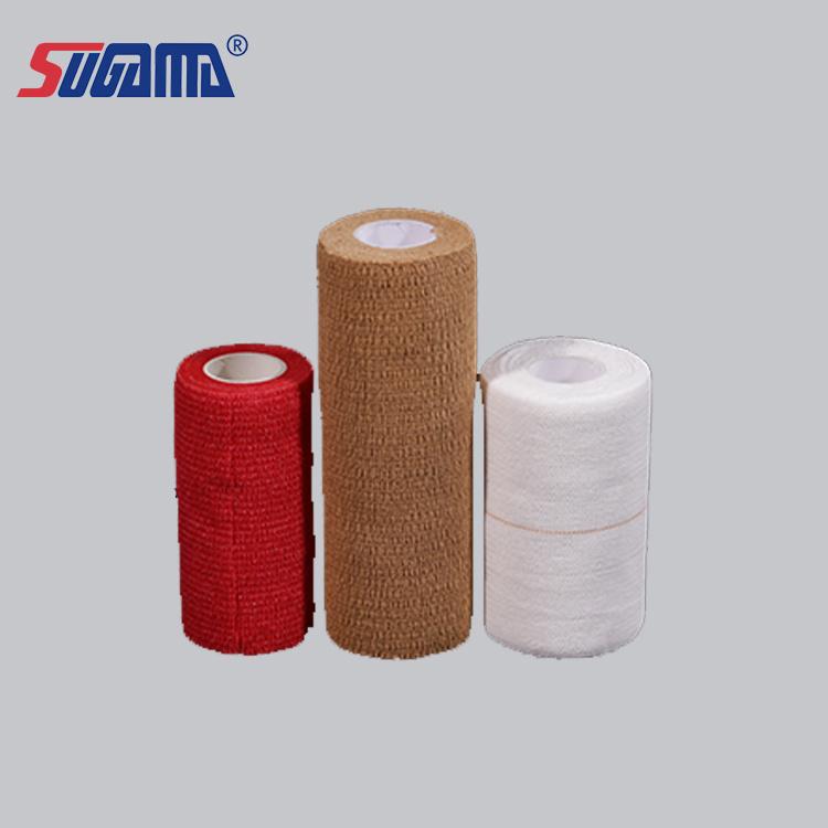 China Medical Cotton Adhesive Elastic Bandage Wrap Heavy Eab