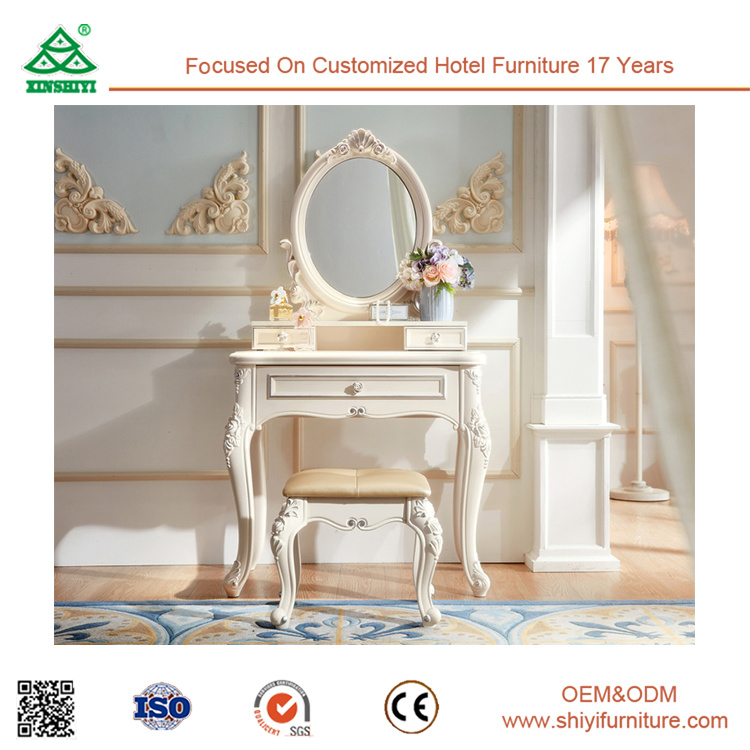 China Royal White Wooden Furniture Bedroom Furniture Dress Console ...