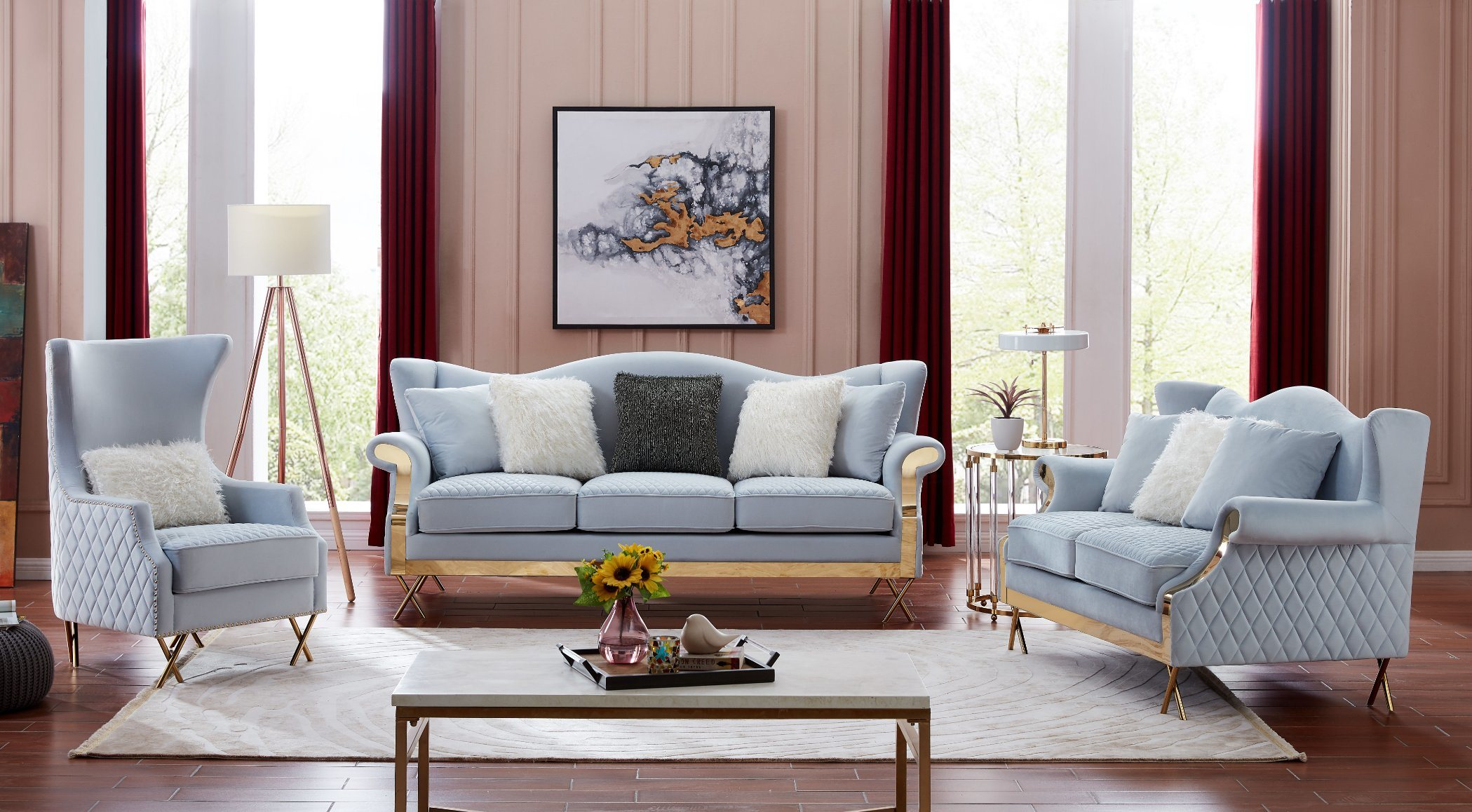 [Hot Item] Classic Living Room Furniture Fabric Chesterfield Sofa Office  Hotel Home Event Couch