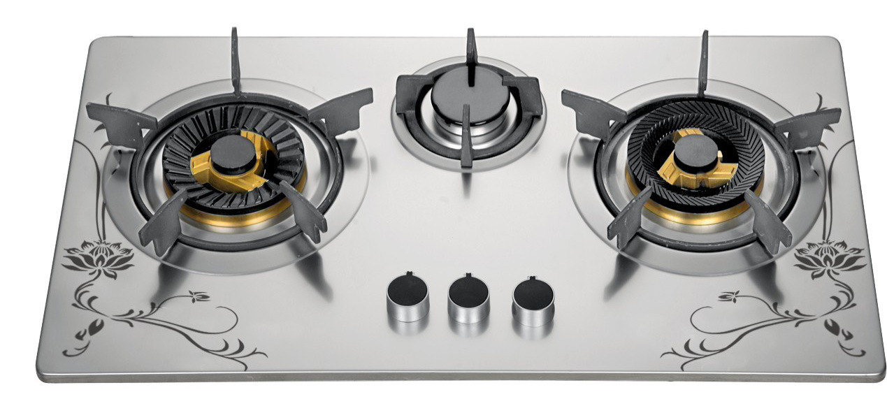 China 72cm Three Burner Gas Cooktop, Stainless Steel 3 Burner Gas Stove For  Kitchen   China Built In Gas Stove, Gas Stove