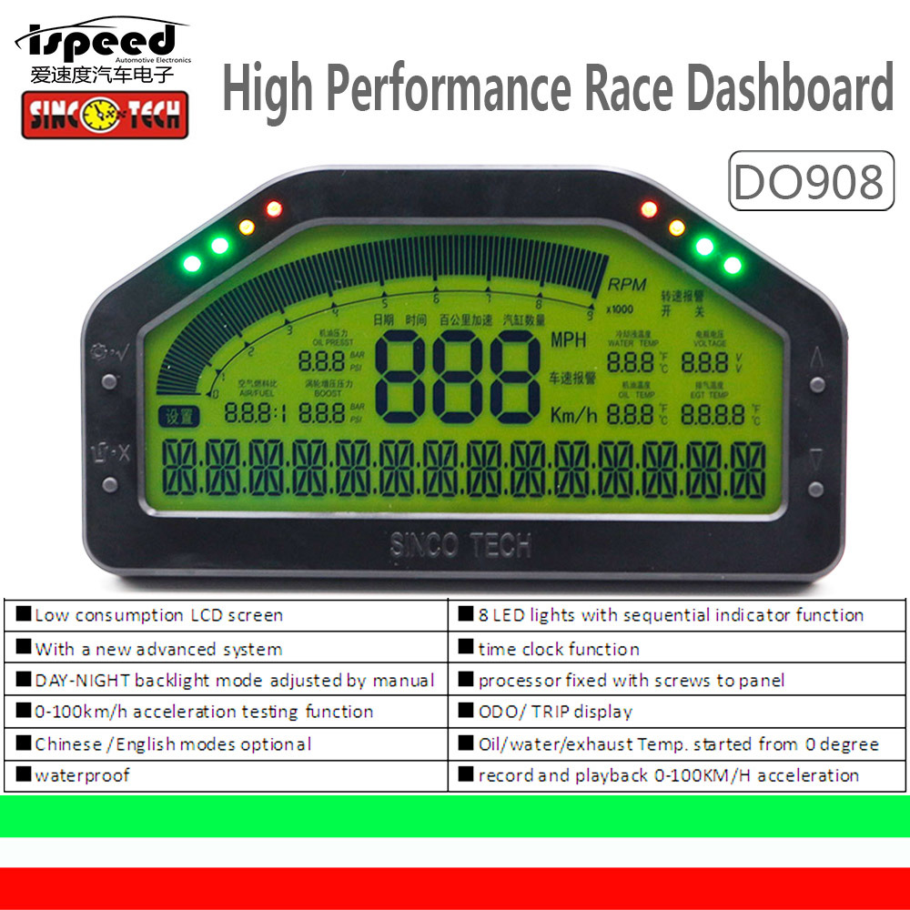 China Do908 Dash Race Display Sensor Kit Dashboard Lcd Screen Wire Car Wiring Harness Manufacturer Gauge Meter Obd