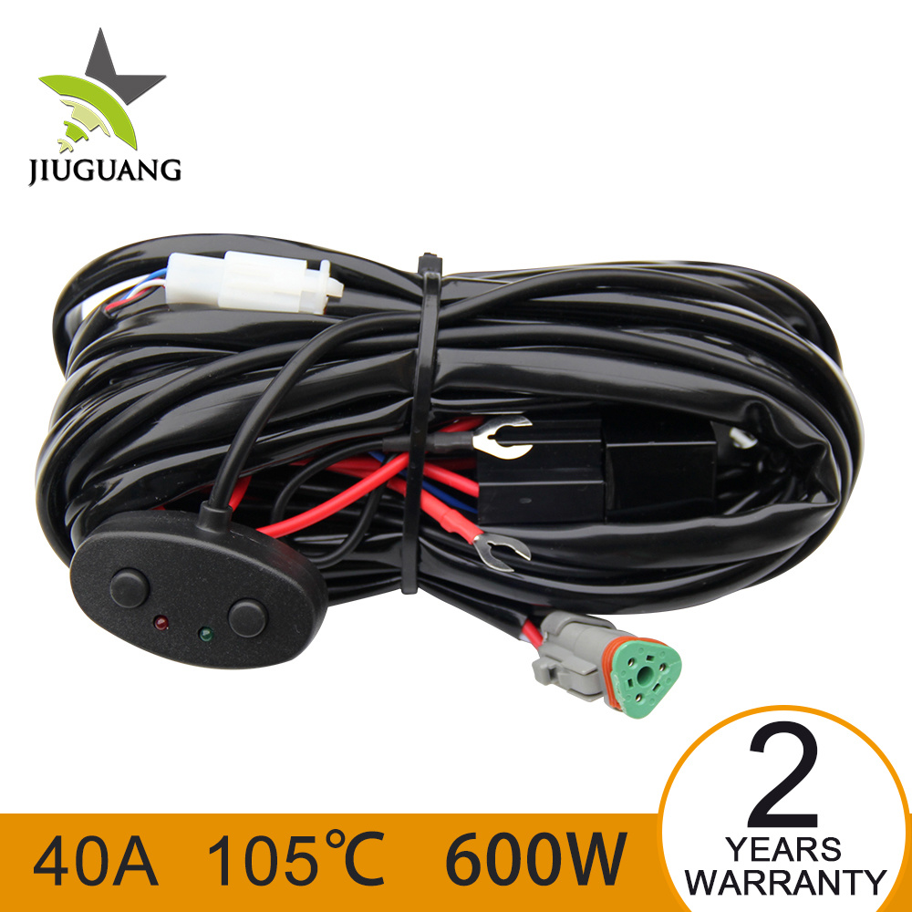 China Led Headlight Work Light Bar Wiring Harness Connector For Auto Jeep Offroad