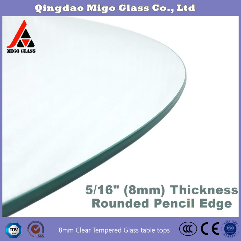 China Glass Manufacture Direct Tempered, 16 Inch Round Glass Table Top