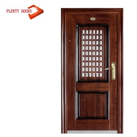 China Hotel Exterior Steel Security Entrance Jalousie Door China
