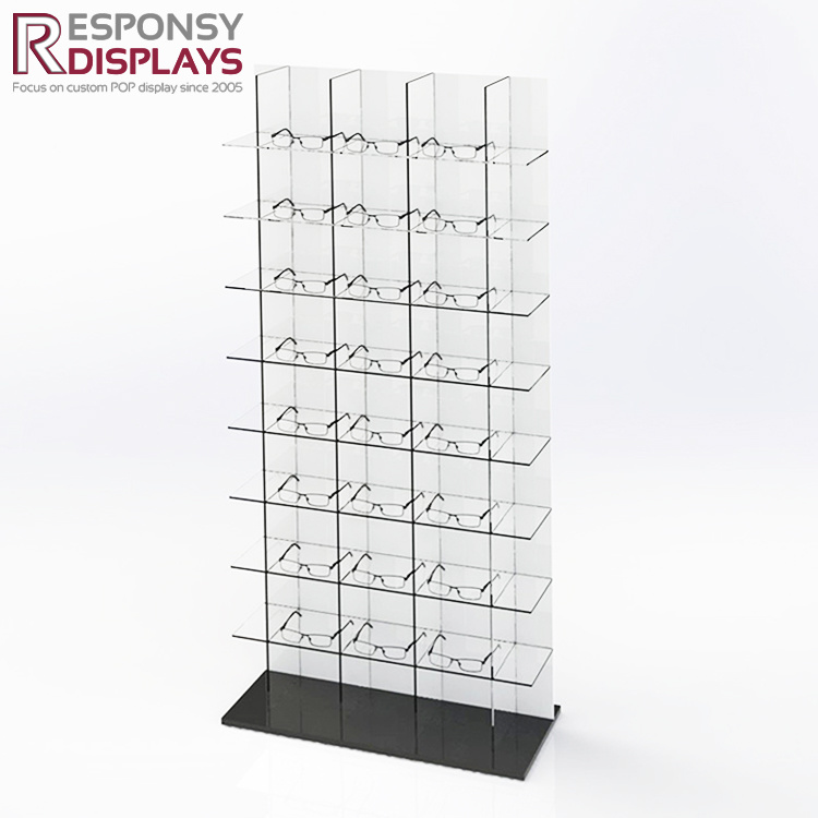 Acrylic Retail Store Floor Sunglasses Display Eyewear Display Cabinet