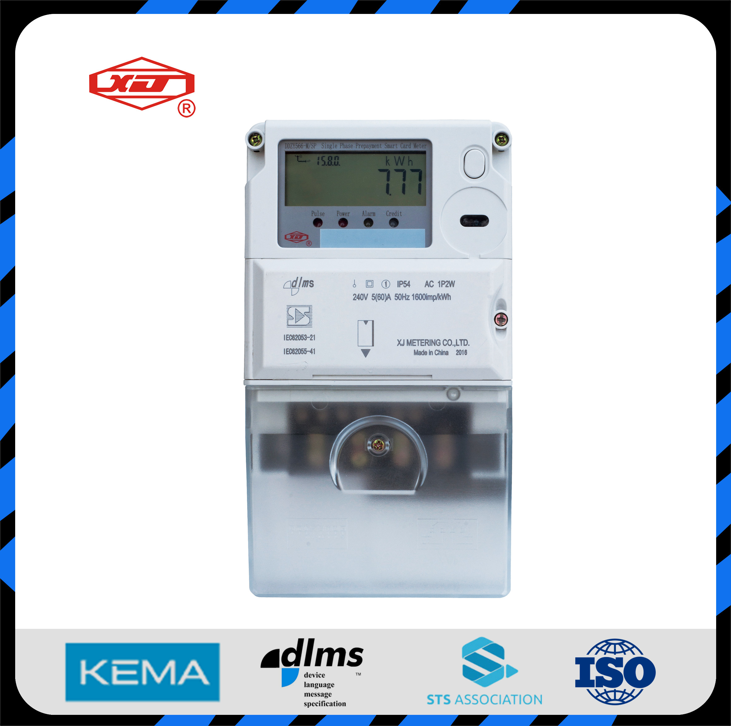 Single Phase Smart Card Prepayment Energy Meter Power Meter