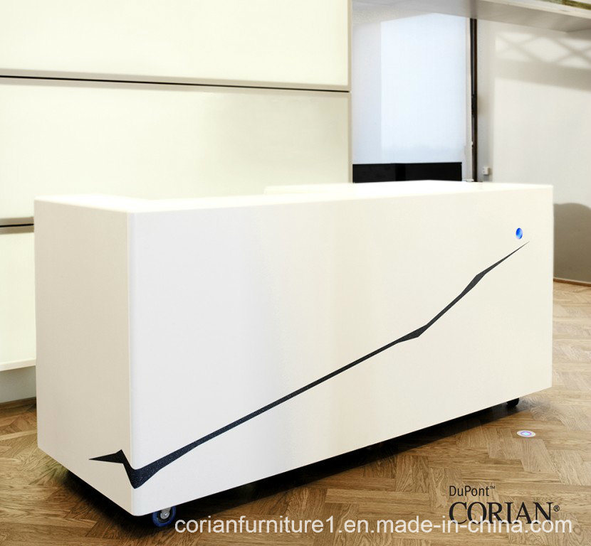 Made In China Dupont Corian Reception Counter Desk Office