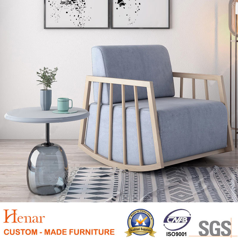 China 2019 Living Room Oak Wood Rocking Chair With Cushion China Sofa Chair Living Room Chair