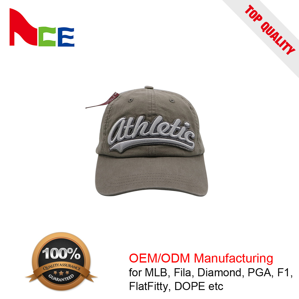 China Guangzhou Stone Washed Distressed Applique Plain 6 Panel Baseball Cap  - China Distressed Hat 056549b26cb