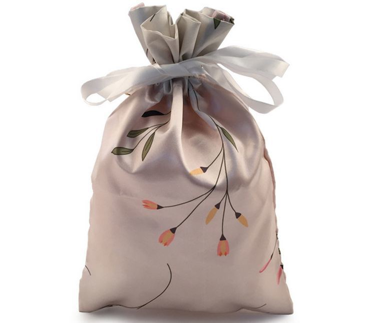 Hot Item High End Satin Drawstring Bag With Custom Logo For Jewelry Promotion