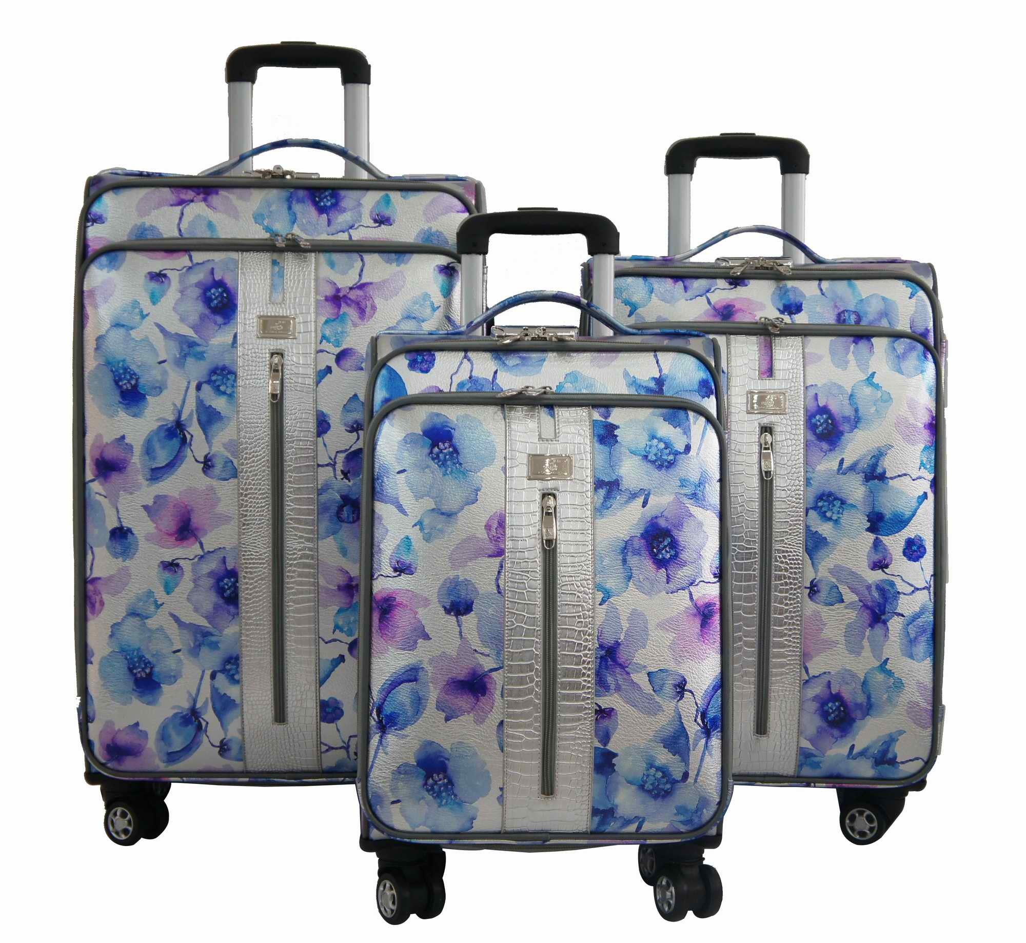 PU Bags and Cases Trolley Bags Luggage 1jb014