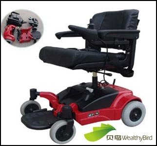 CE Electric Wheelchair for Disabled T408A-Red