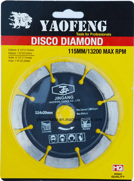 Hot Pressed Segmented Diamond Saw Blade for Concrete Cutting