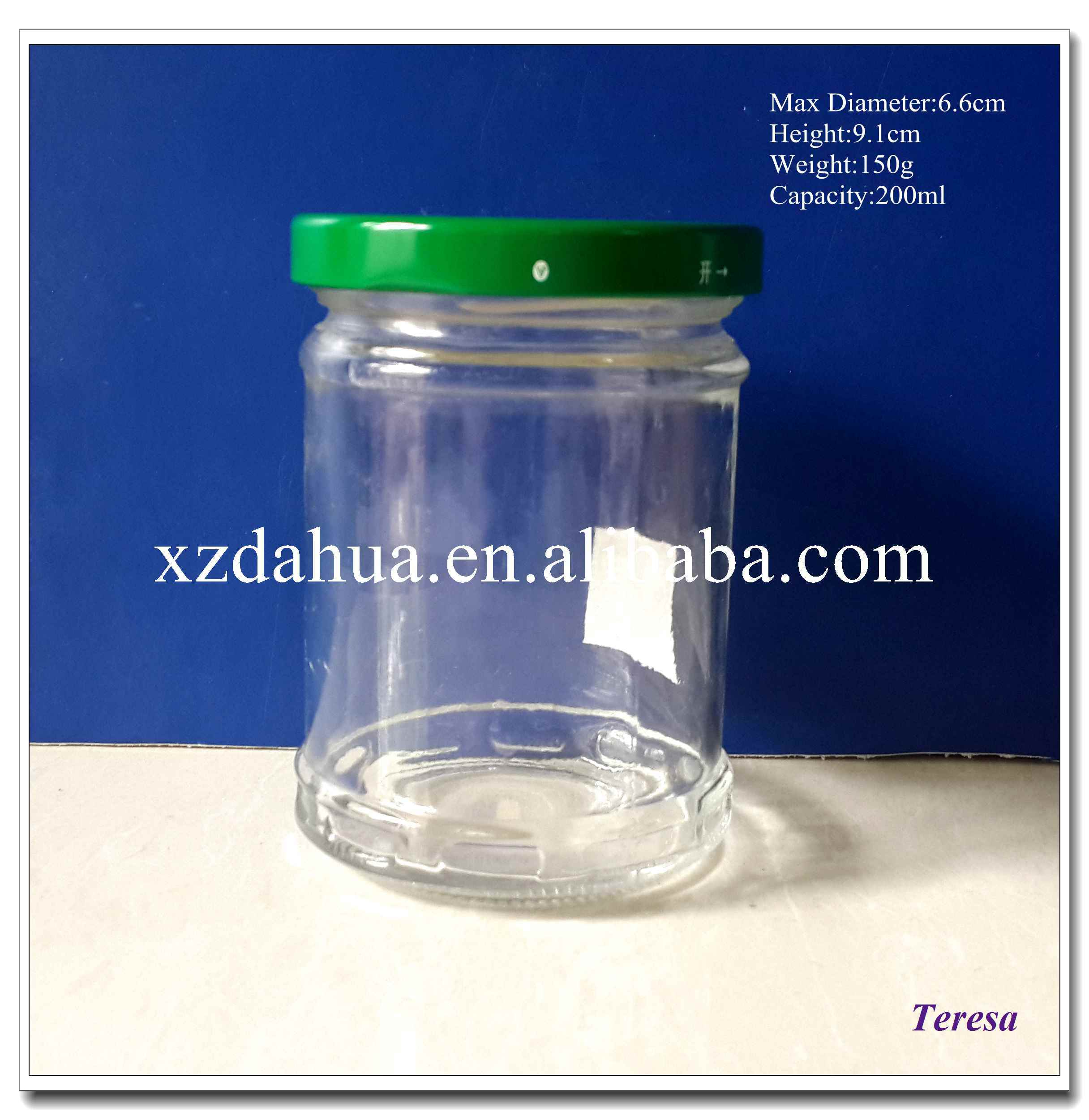220ml Glass Jam Jar Woith Metal Twist off Cap pictures & photos