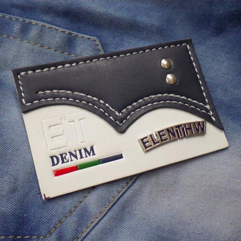 [Hot Item] Custom Printed Embossed Leather Patch for Jeans