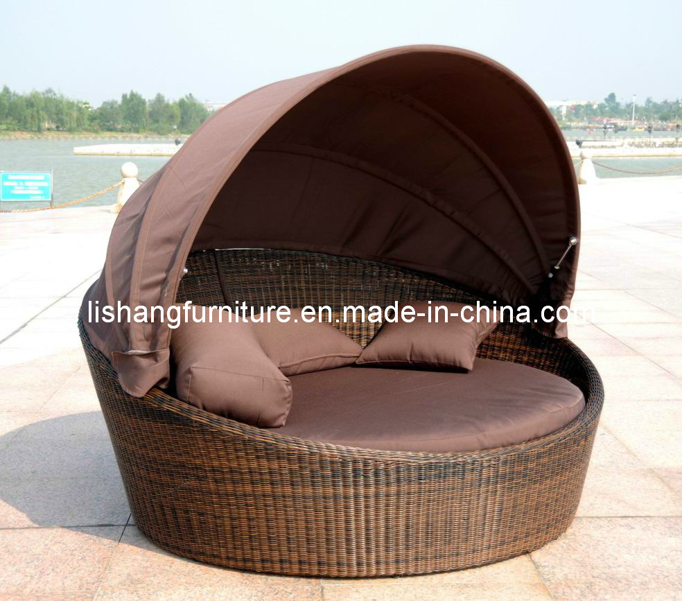 - China Outdoor Furniture Round Daybed, Day Bed, Rattan Daybed With