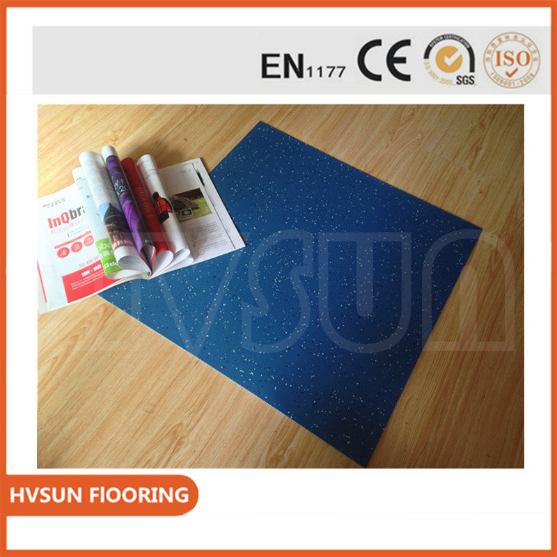 China Hammer Pattern Natural Rubber Flooring Tiles With Colorful