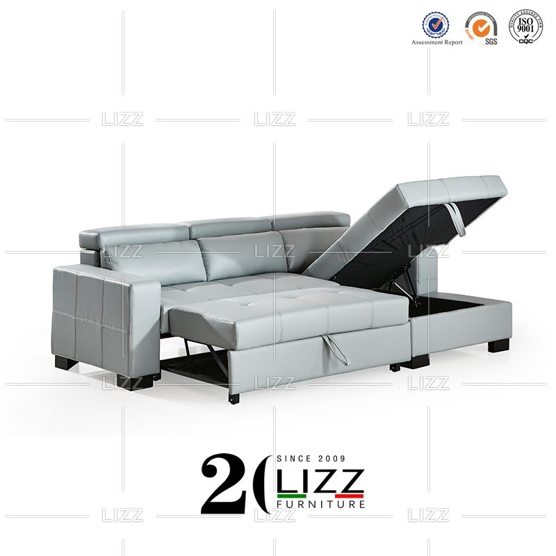 Commercial Leather Corner Sofa Bed
