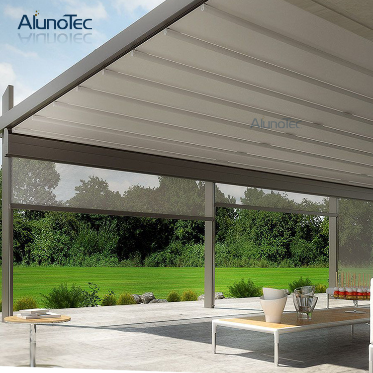 [Hot Item] Waterproof Roof Retractable Awning with Side Screen