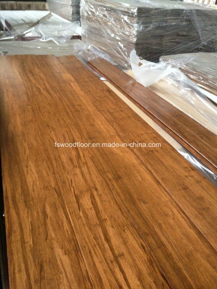 China Click Lock Coffee Color Strand Woven Bamboo Flooring China