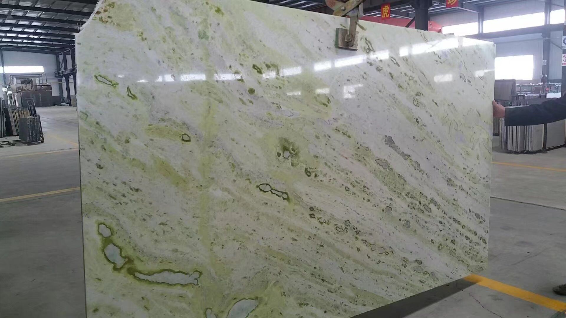 China Green Marble Green Stone Slabs For Tile Flooring And