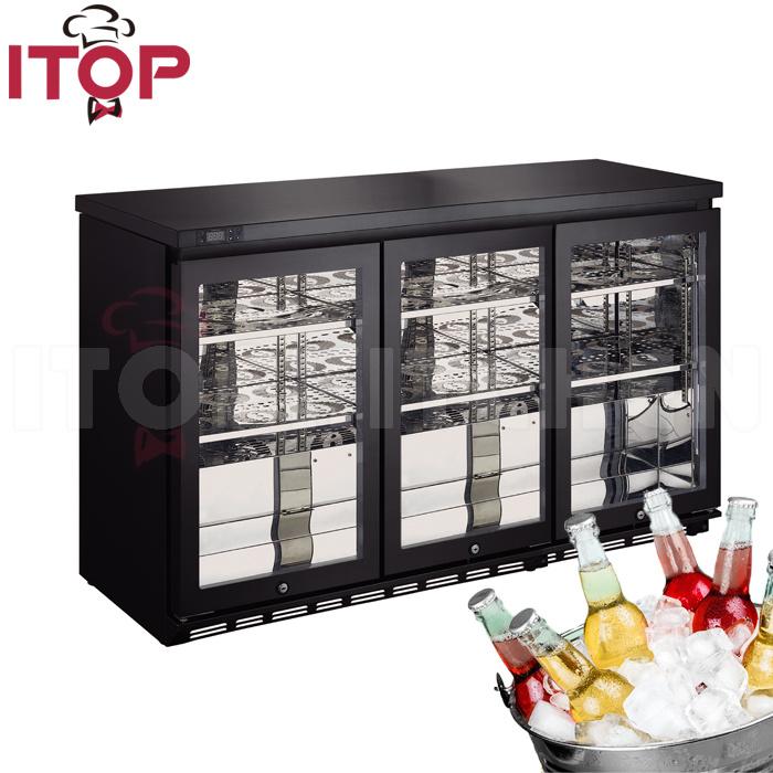 China 2 Door Commercial Drink Cooler Supermarket Showcase