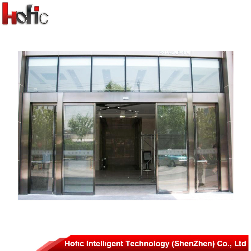 China Commercial Automatic Aluminum Sliding Glass Door China Glass