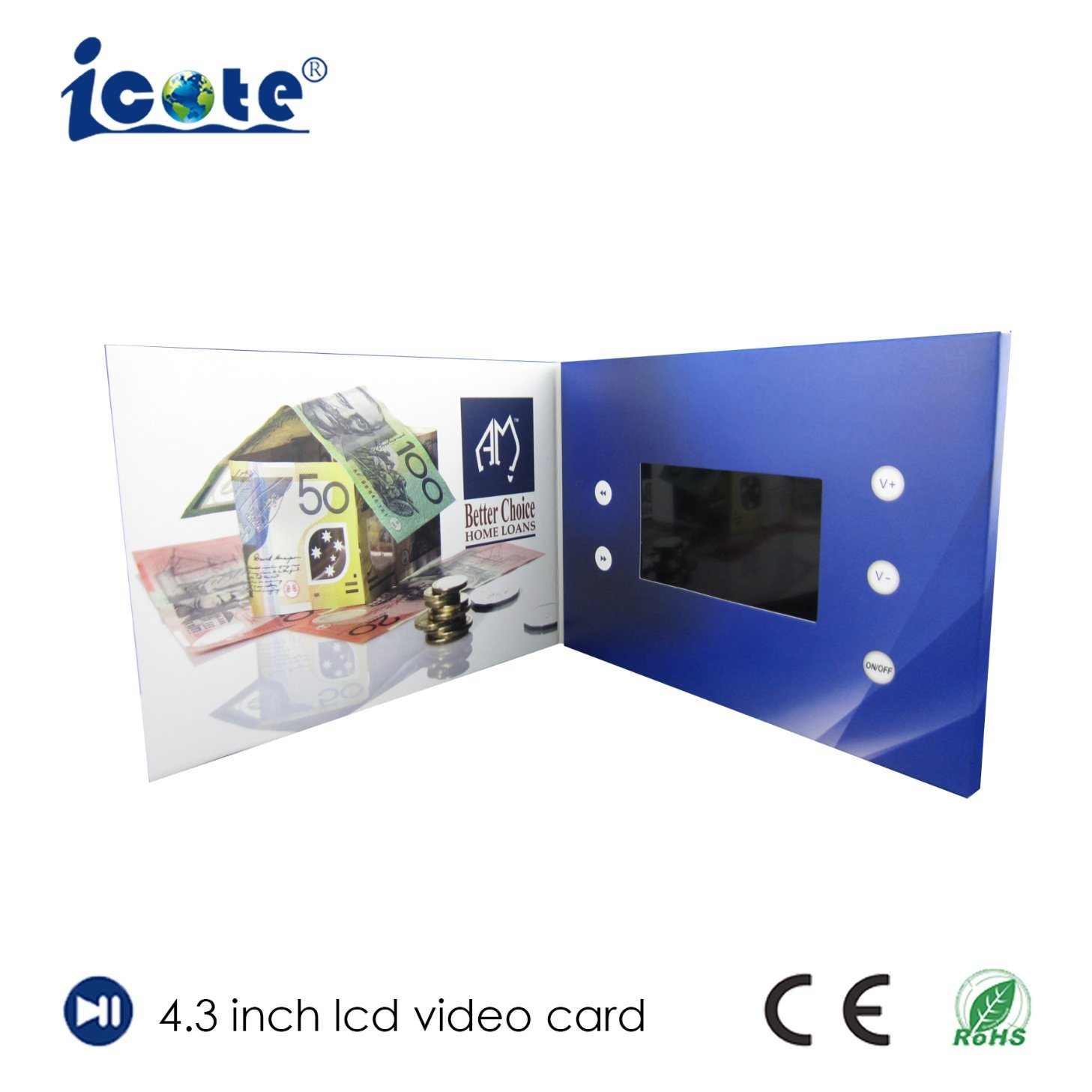 China Customized Video Greeting Card Video Booklet Video Brochure