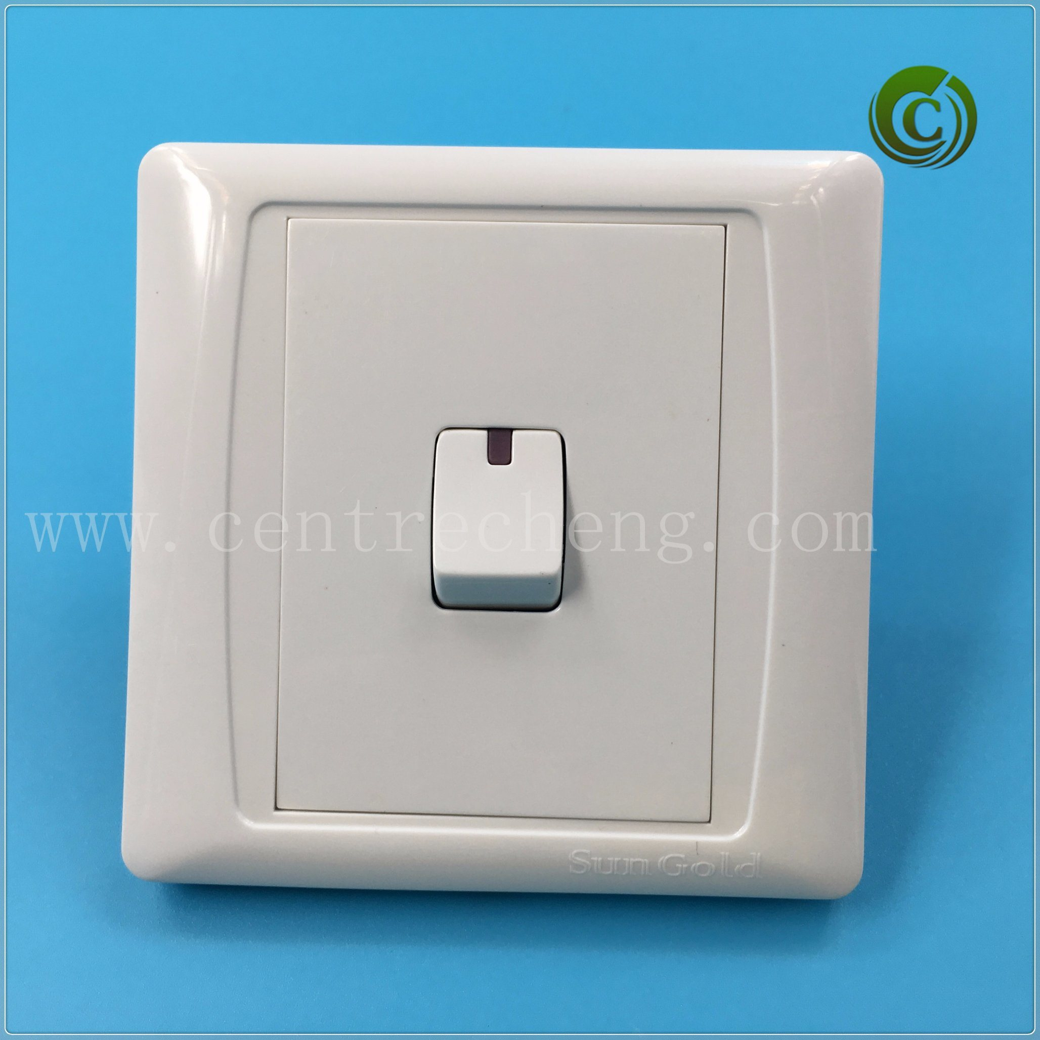 China One Gang Switch Panel White Color Switch Plastic Switch Square ...
