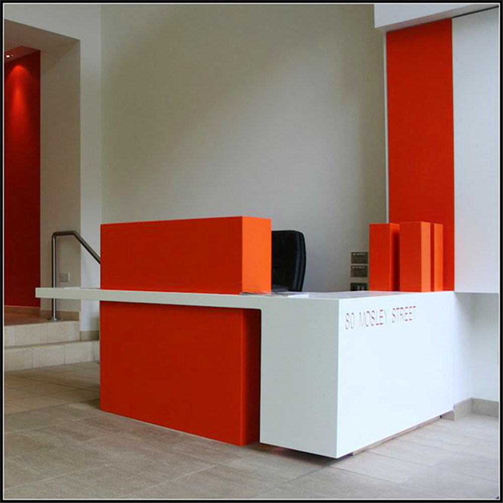 China Ce Approved Top White And Red Office Desk Front
