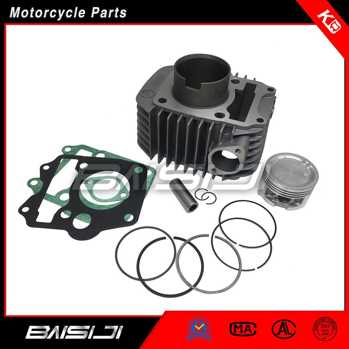 China Factory Direct Sell Motorcycle Cylinder Kit Honda Wave125 China Motorcycle Parts Motorcycle Spare Parts