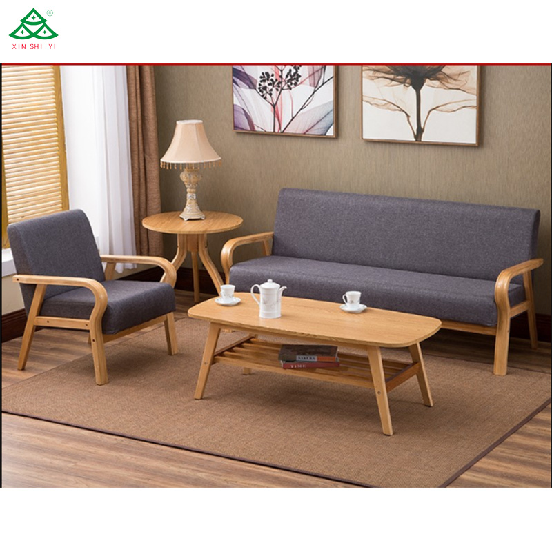 [Hot Item] Modern Style Solid Wood Sofa Set