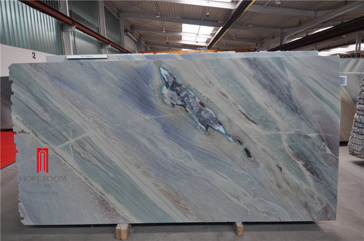 China Light Blue Marble Slab Block For