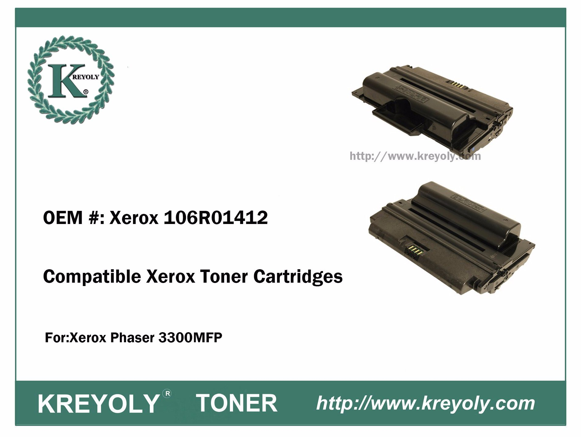 New Compatible Xerox Phaser 3300 3300MFP Toner Cartridge 106R01412
