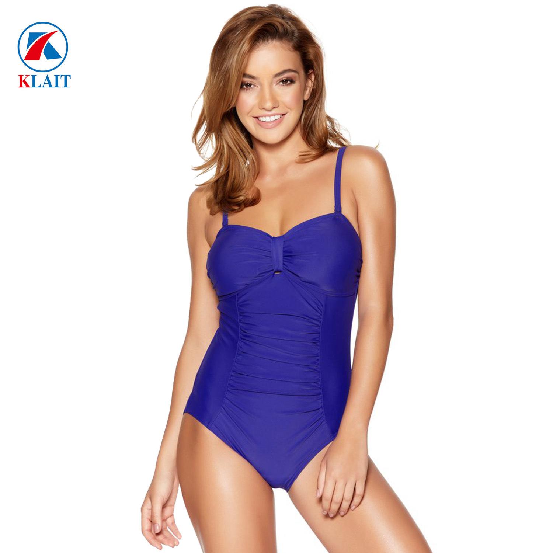 56594c6b54 China Custom Nylon Ruched Tummy Control Multiway Blue Swimsuit - China  Women Swimsuit, One Piece Swimwear