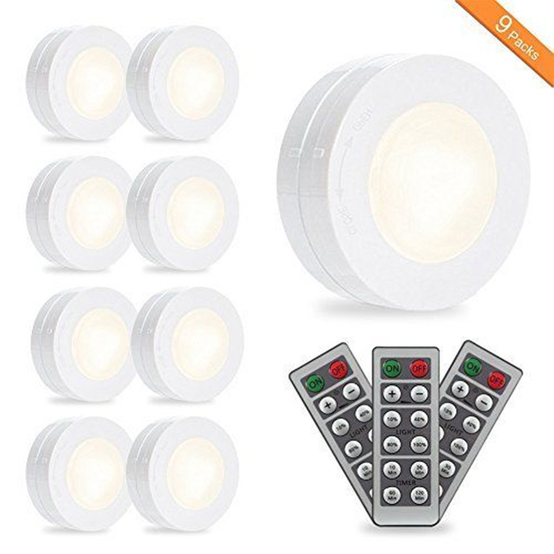 Hot Item Wireless Led Puck Lights Closet Lights Battery Operated With Remote