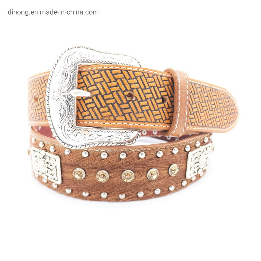 Hand Painted Horse Leather Belt For Men Leather Belt
