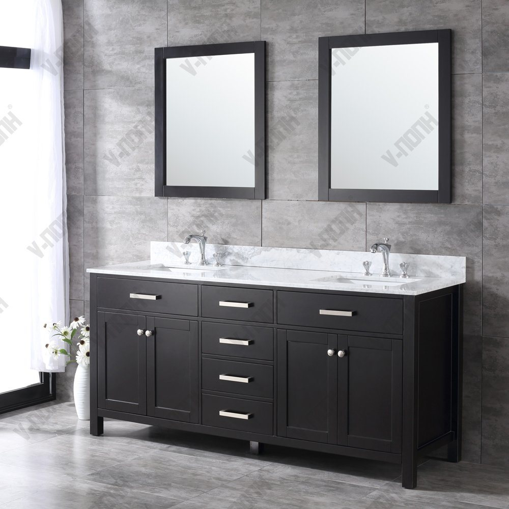 China Large Size Dobule Solid Wood Bathroom Vanity Base Cabinets China Online Vanity Cabinets Bathroom Wall Cabinet With Drawers