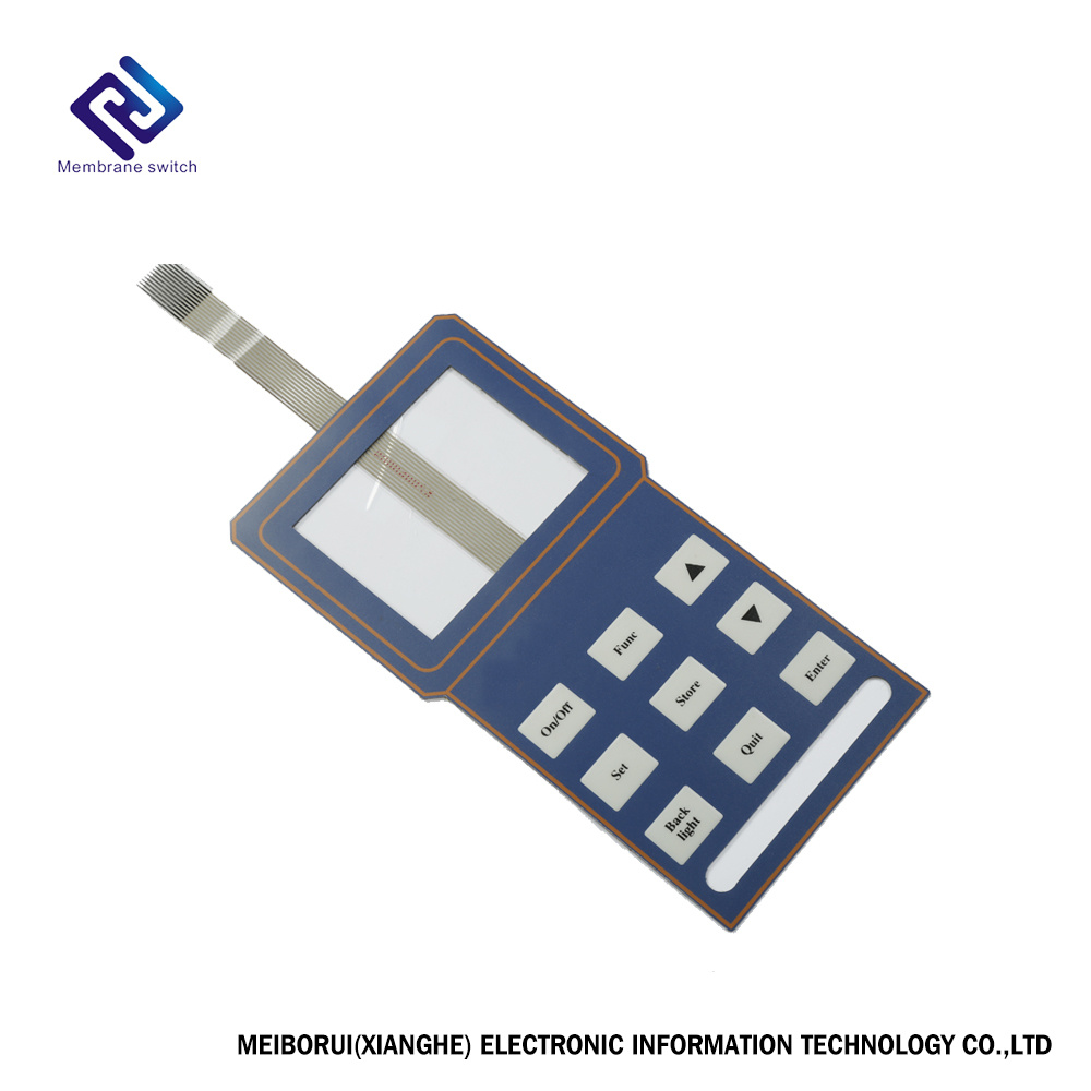 China Custom Single Membrane Switch With Transparent Window Tactile Waterproof Metal Dome Pcb Circuit Board Overlay