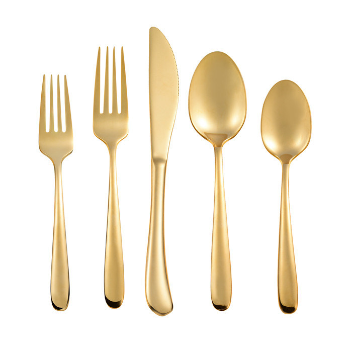 Matte Gold Cutlery Flatware Set