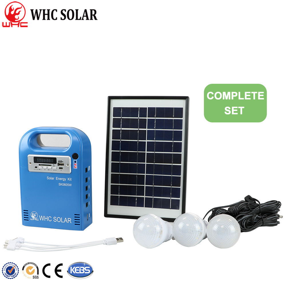 China 5W/5000mAh/6V Mini DC Solar Home Lighting Power System (WHC ...