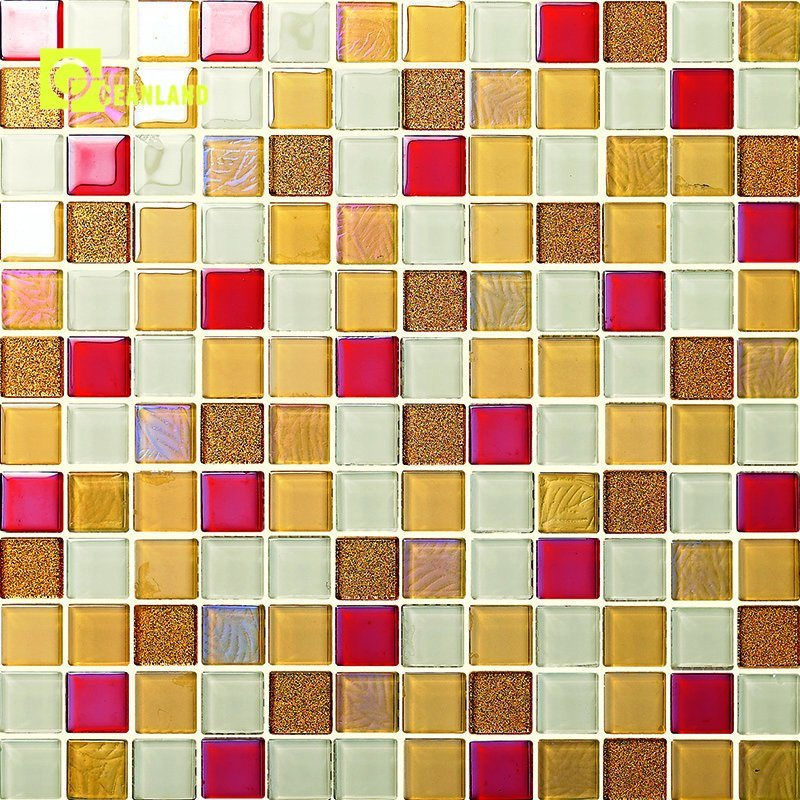Design Colorful Crystal Mosaic Tile