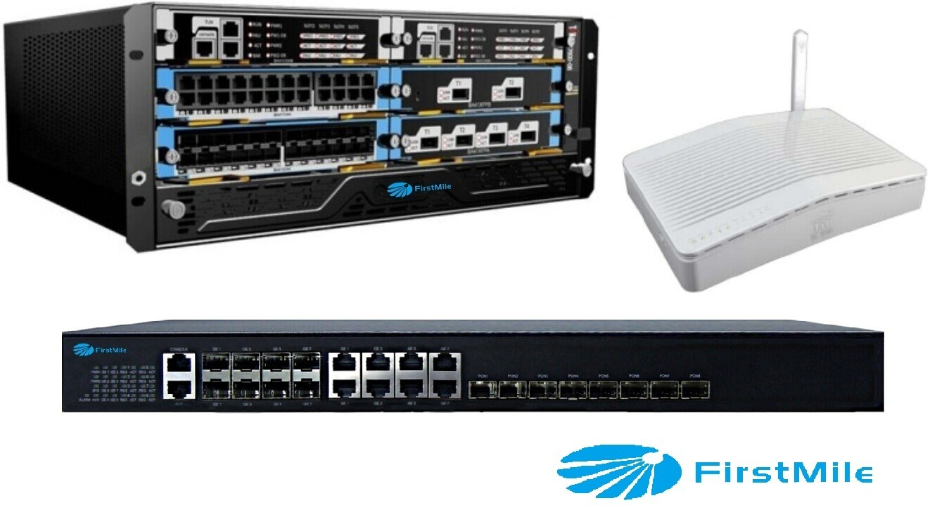 FTTX System Solution 2 10g SFP+ Port Gpon Olt