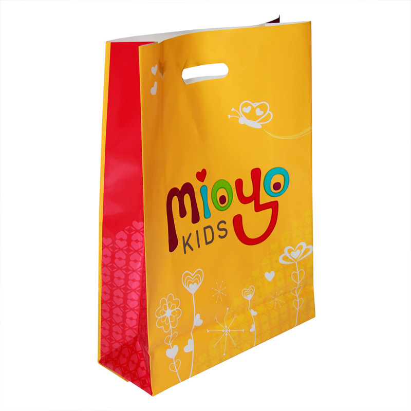2015 Plastic Bag with Die Cut Handle, Printed Bag, Shopping Bags with Customized Design (HF-529) pictures & photos