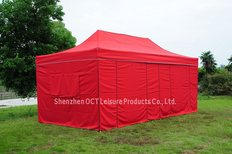 Rectangle Foldable Gazebo Tent with Red Color (OCT-FG009R)