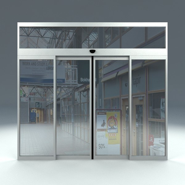 China Automatic Sliding Glass Door With Fire Alarm Signal Terminal