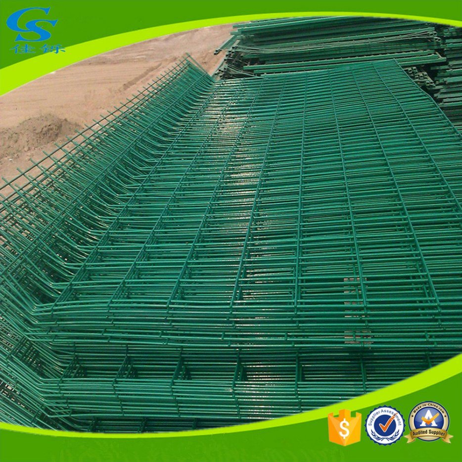 China Galvanized PVC Coated Welded Wire Mesh Fence Security Fence ...