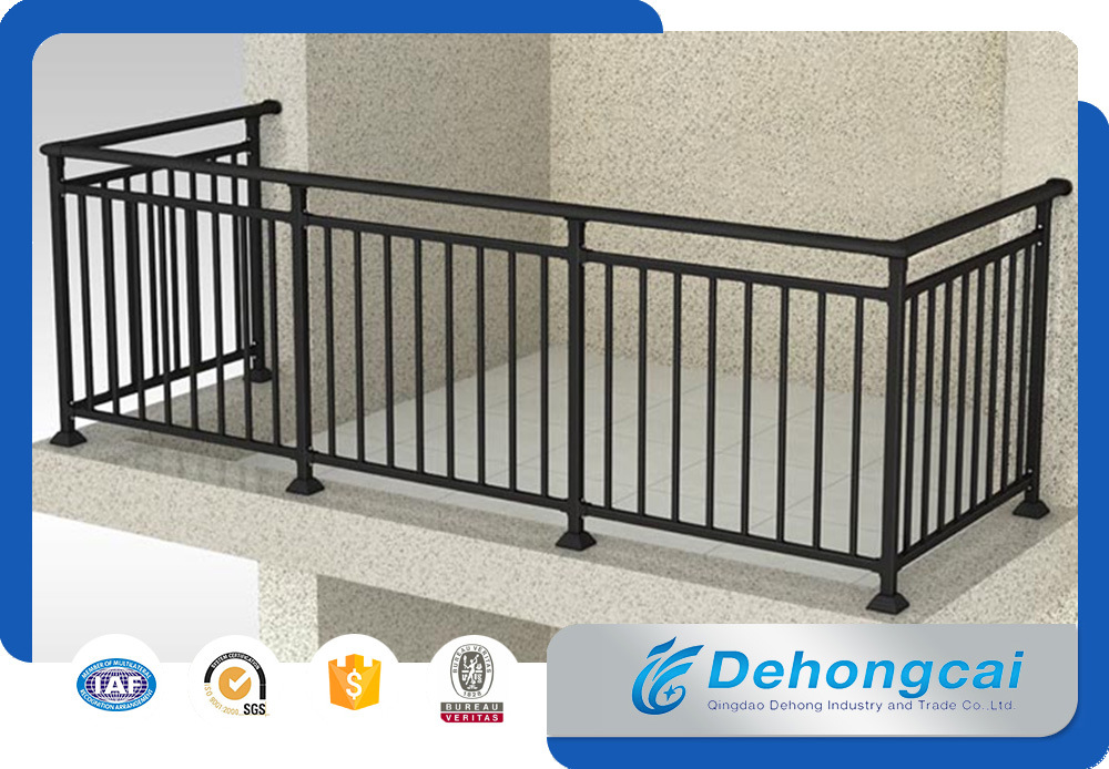 solid metal fence. Solid Metal Veranda Railing / Galvanized Wrought Iron Balcony Safety Fence U