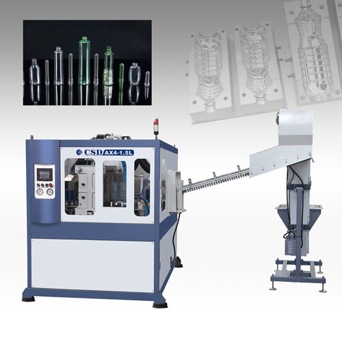 CE Approved with Ax Down Blow Series Automatic Blow Molding Machine (CSD-AX4-1.5L)