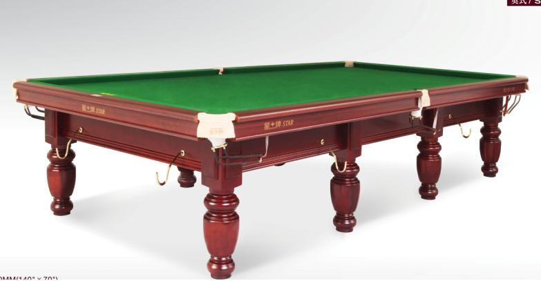 China FT Star Classical Steel Cushion Snooker Table China Star - Star pool table